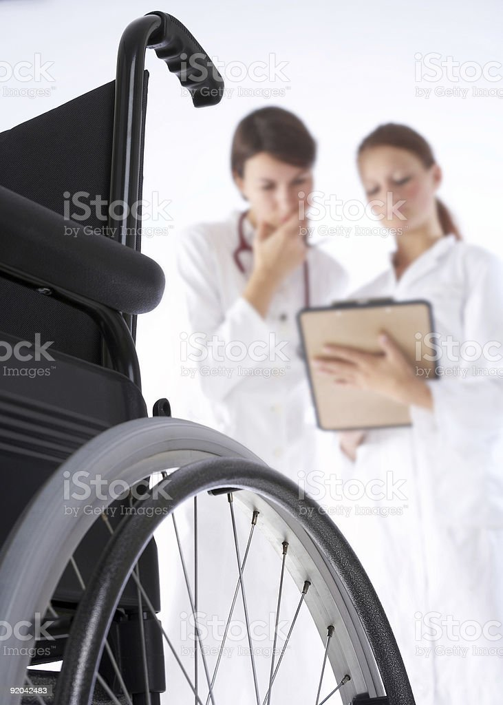 doctor and nurse making diagnosis royalty-free stock photo