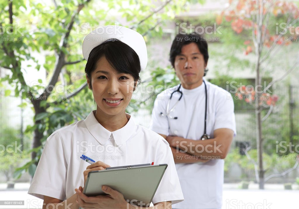 Doctor and Nurse stock photo