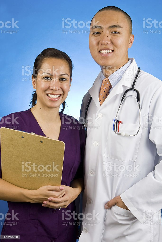doctor and nurse portrait royalty-free stock photo