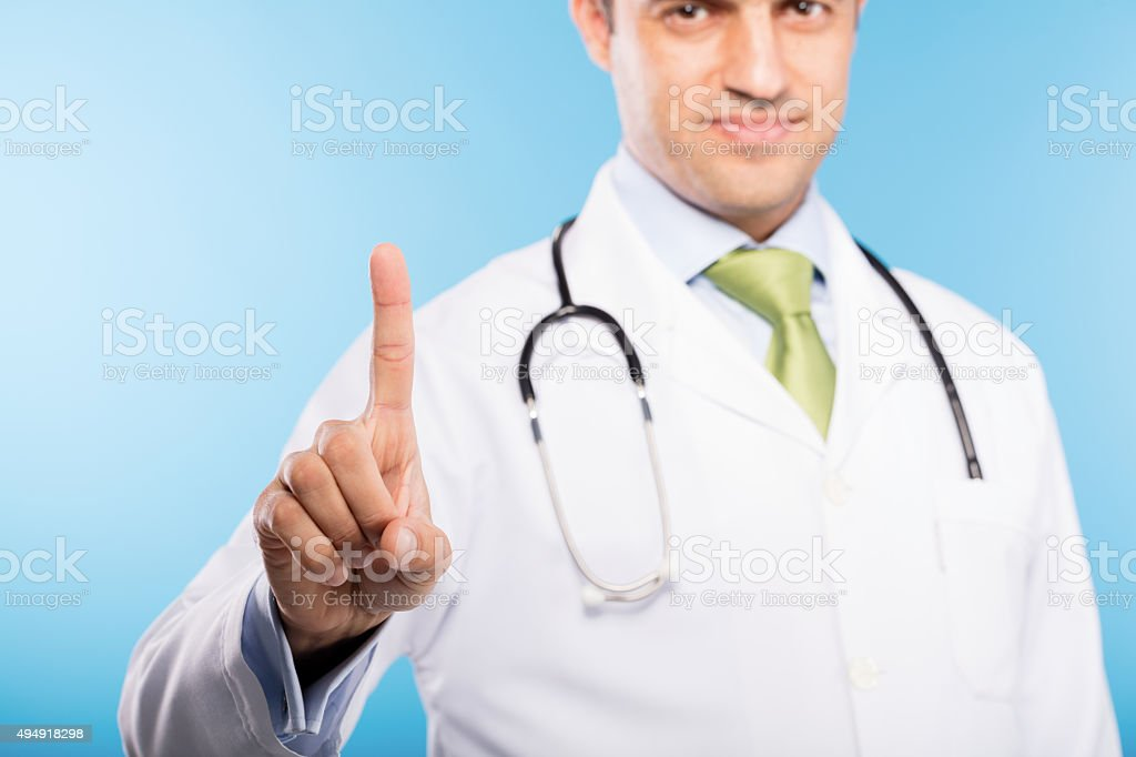 Doctor and One Finger stock photo