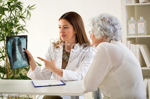 istock Doctor and patient discussing scan results 638119502