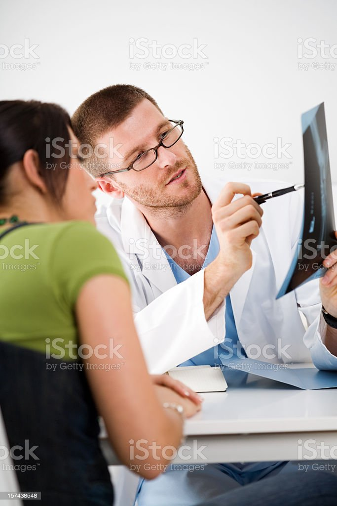 Doctor And Patient, Doctors Office royalty-free stock photo