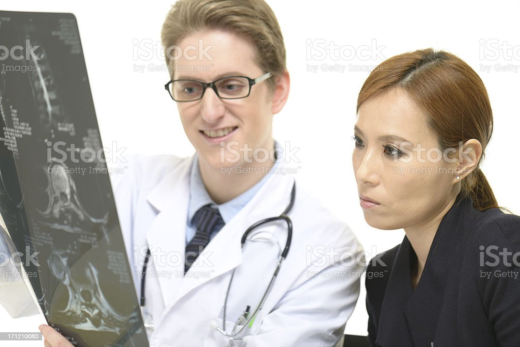 Doctor and patient in duscussion royalty-free stock photo