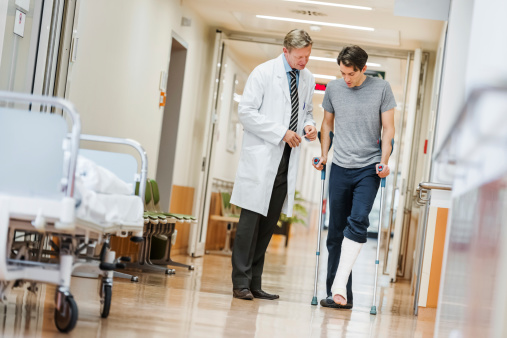 istock Doctor and Patient in Hospital 492795301