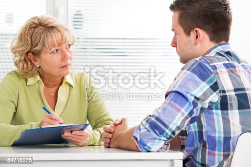 istock Doctor and patient 184718275