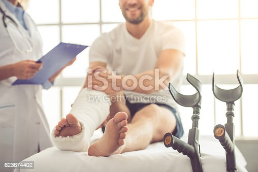 istock Doctor and patient 623674402