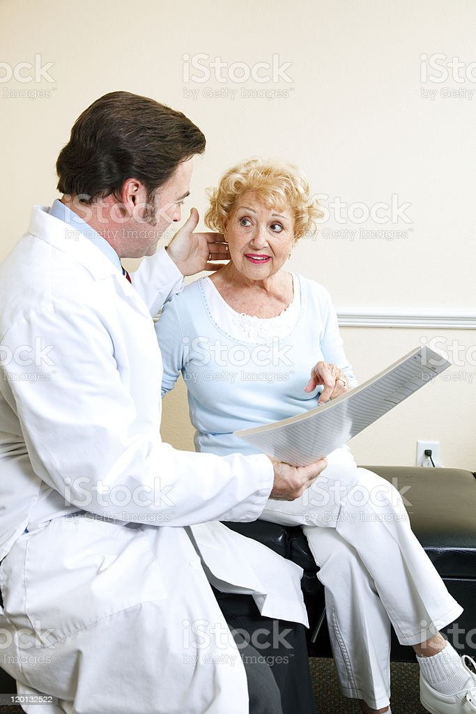 Doctor and Patient - Symptoms royalty-free stock photo