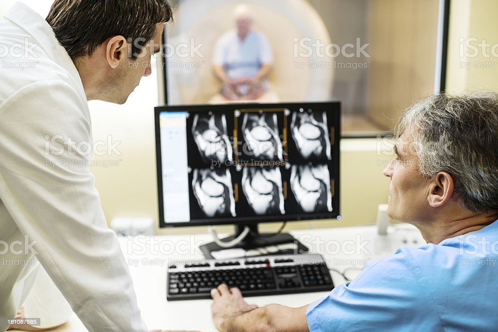 Doctor and radiologist. stock photo
