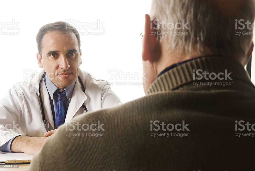 Doctor and senior patient royalty-free stock photo