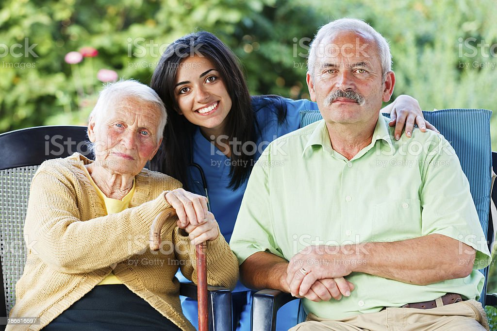 Doctor and Seniors royalty-free stock photo