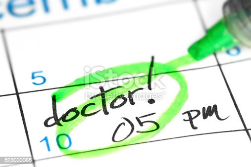 istock Doctor appointment date in calendar 523000065