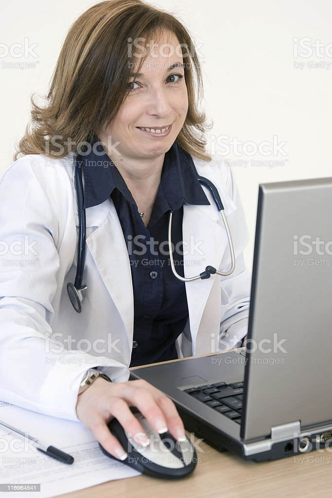 doctor at computer royalty-free stock photo
