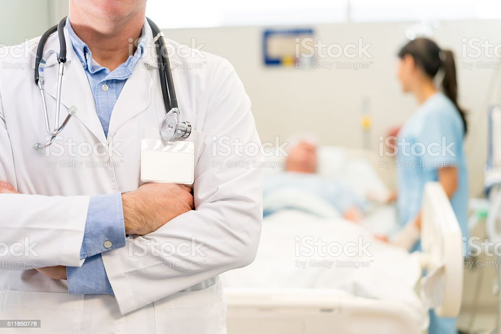 Doctor at the Emergency Room stock photo