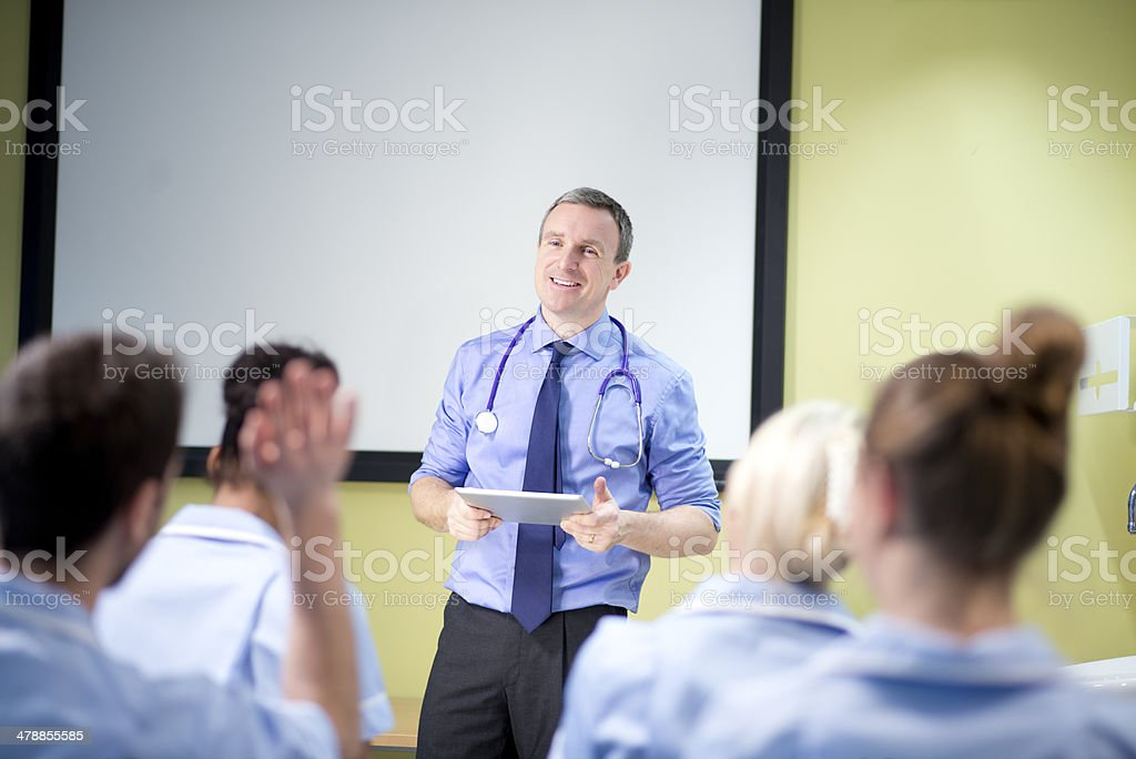 doctor briefing nursing students royalty-free stock photo