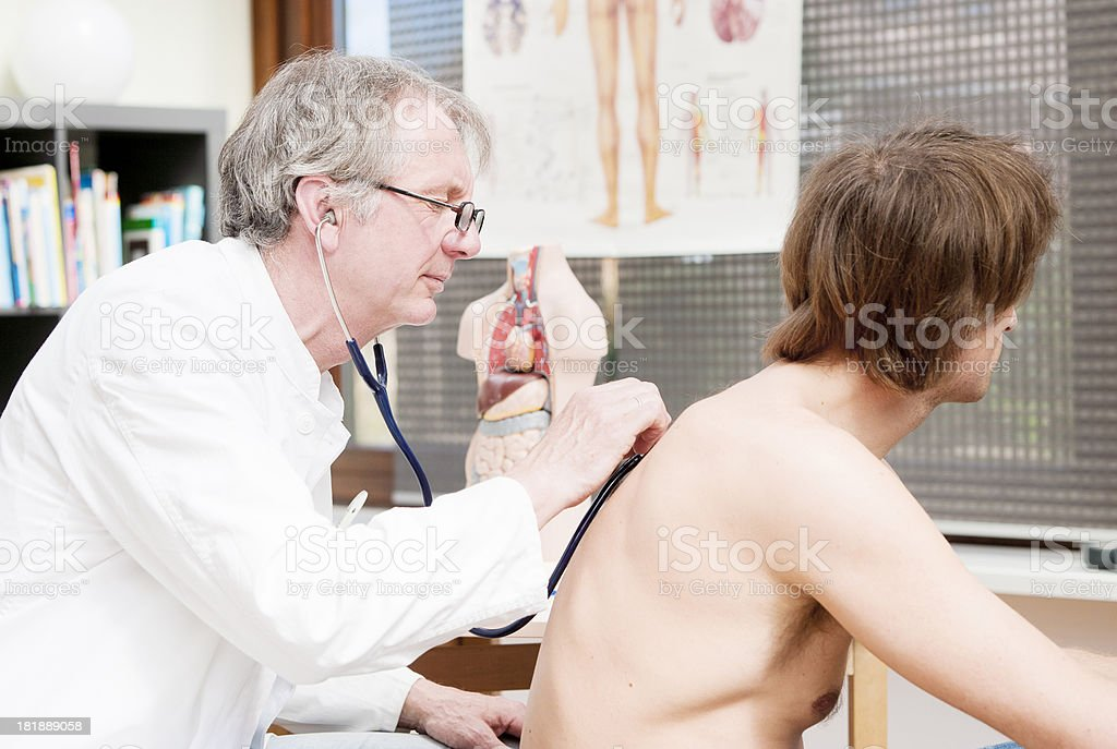 Doctor checking lung royalty-free stock photo