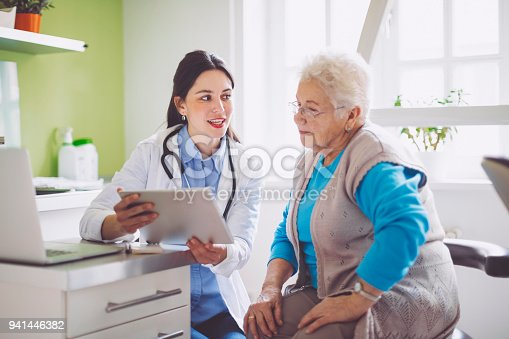 istock Doctor consulting her patient 941446382