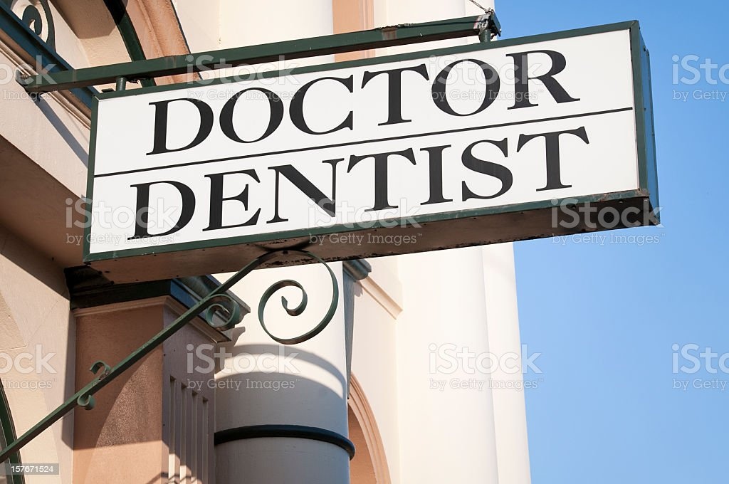 'Doctor / Dentist' Sign royalty-free stock photo