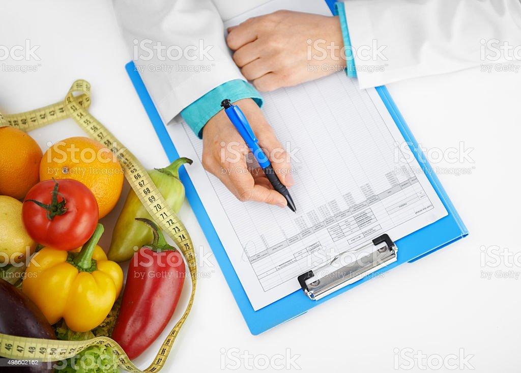 Arzt dietitian schreiben – Foto