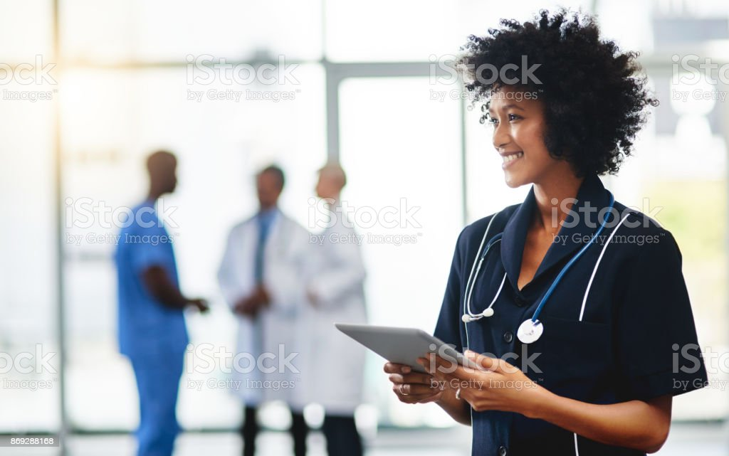 Doctor duties done digitally stock photo