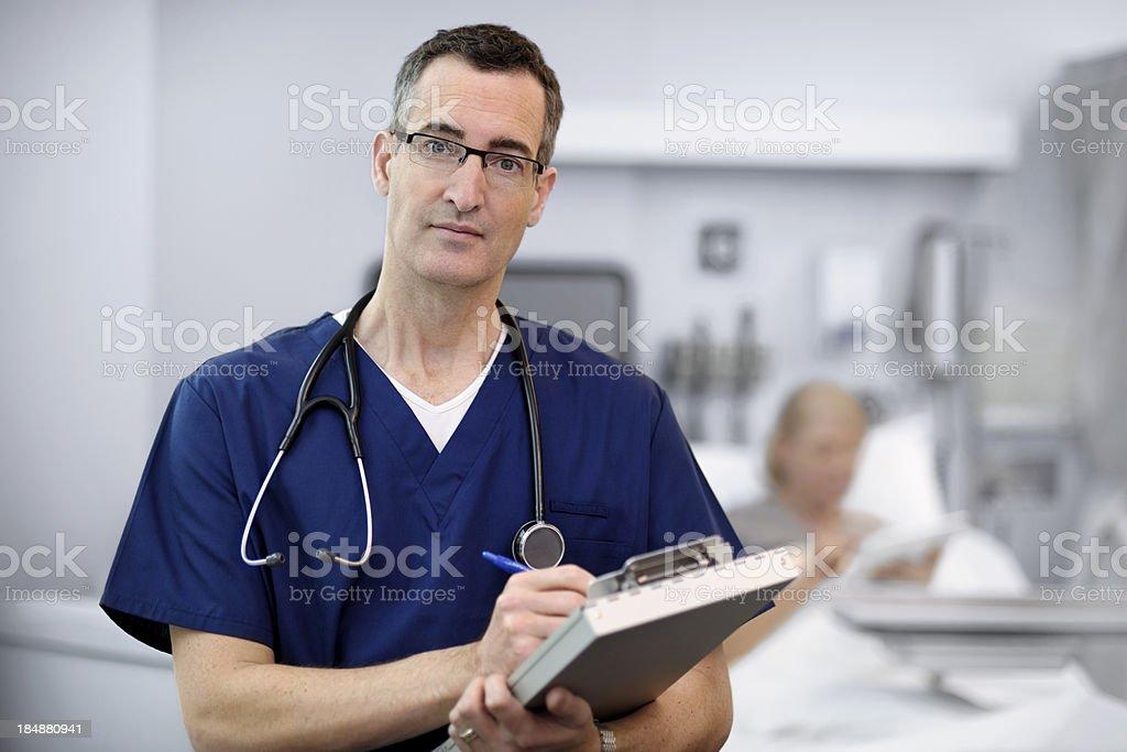 Doctor Examining Patient stock photo
