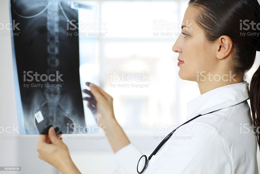 Doctor examining x-ray image. royalty-free stock photo