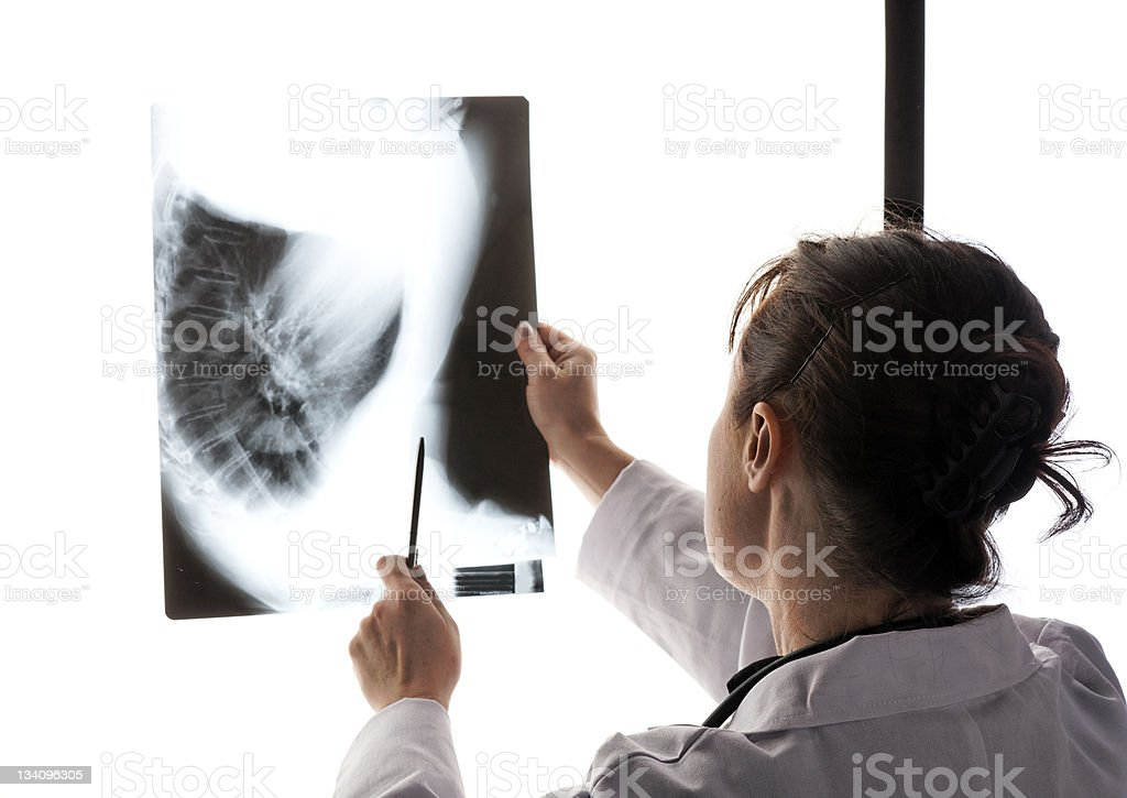 Doctor examining X-ray royalty-free stock photo