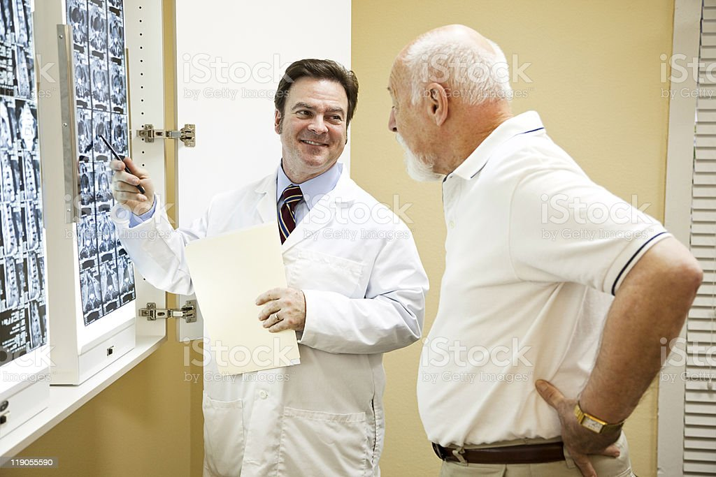 Doctor Exlplains Test Results stock photo