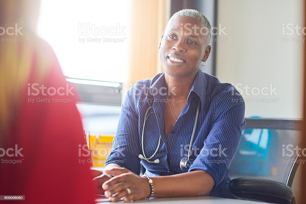 Doctor gives the all clear stock photo