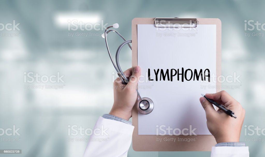 LYMPHOMA doctor hand working Professional doctor stock photo