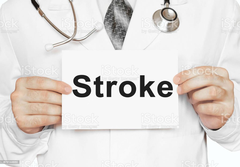 Médico sosteniendo una tarjeta con movimiento, concepto médico - foto de stock