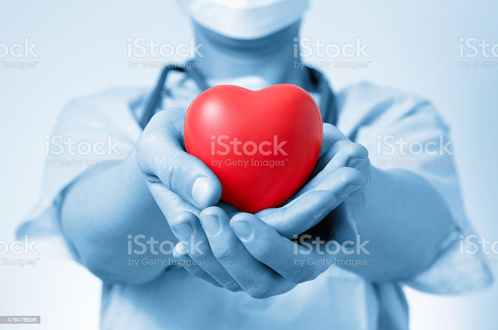 Arzt hält ein Herz – Foto