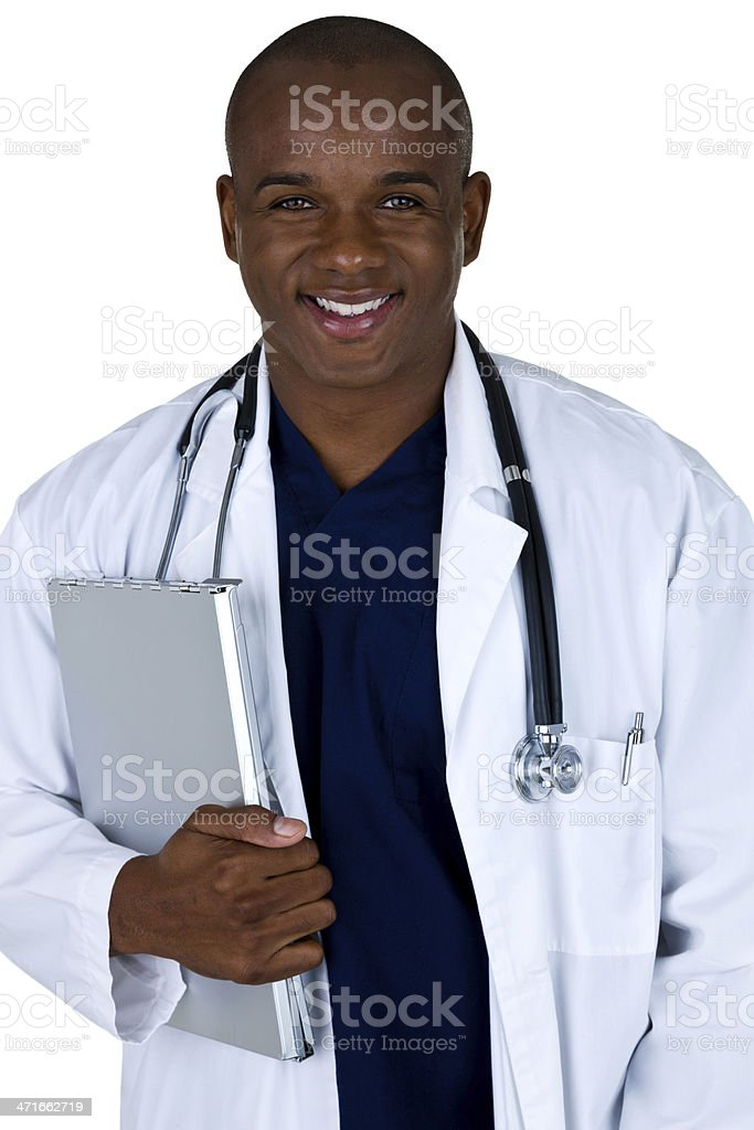 Doctor holding a medical chart royalty-free stock photo