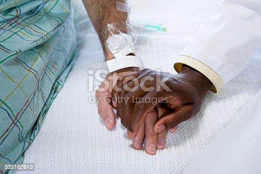 941439642istockphoto Doctor holding patients hand 535162613