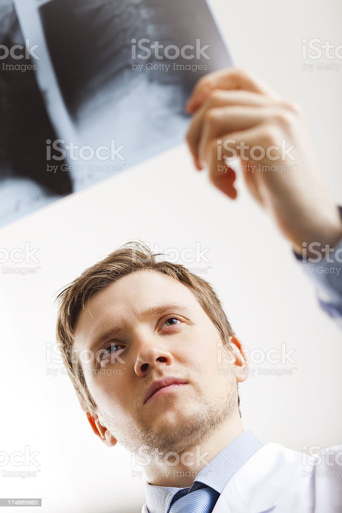 Doctor holding x-ray royalty-free stock photo