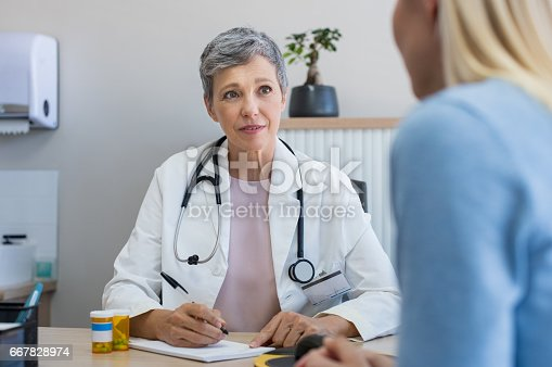 istock Doctor in a consultation 667828974