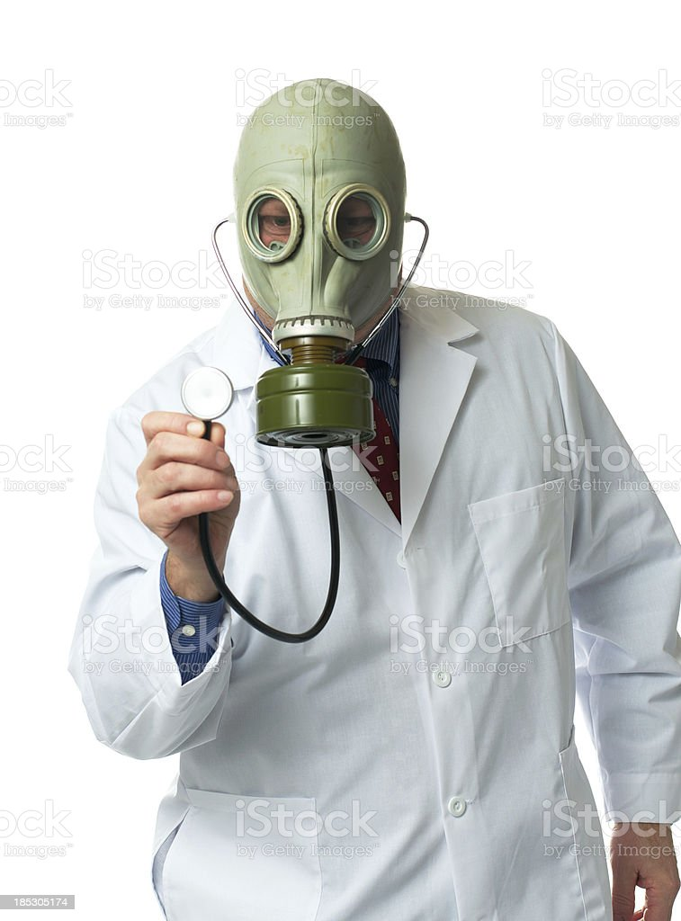 Doctor in a Gas Mask royalty-free stock photo