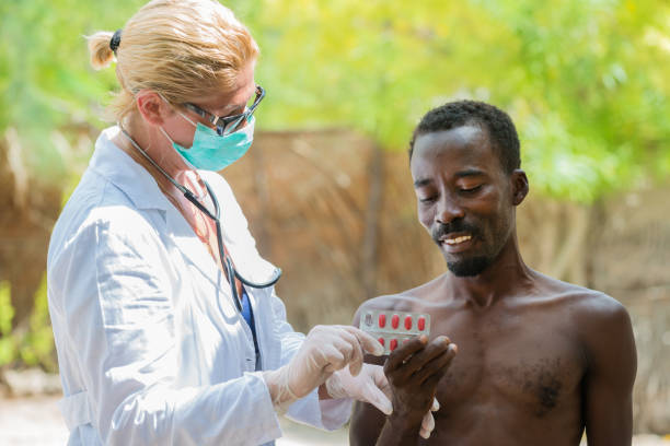 Doctor in Africa stock photo