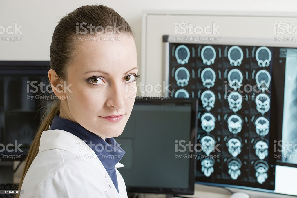 doctor in diagnostic center royalty-free stock photo