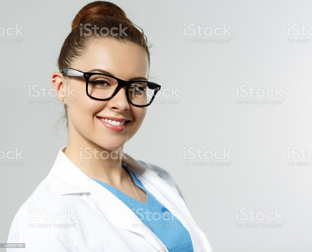 Doctor in glasses stock photo