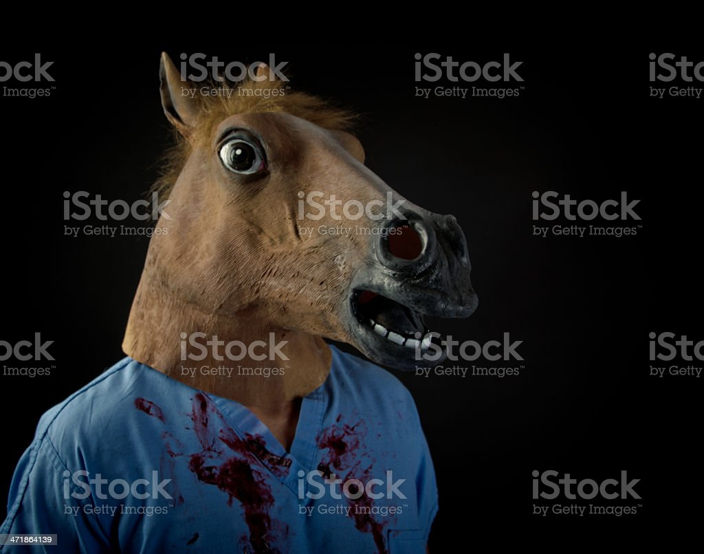 Doctor in Horse Mask royalty-free stock photo
