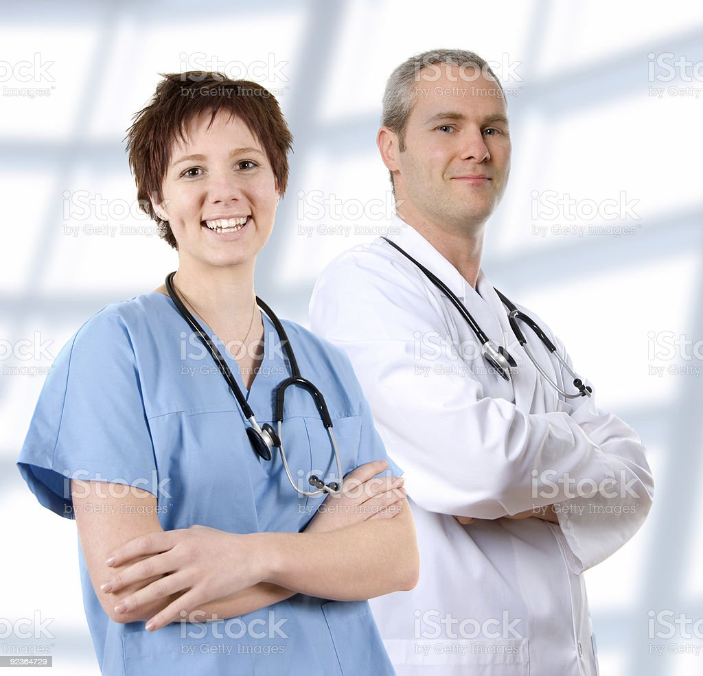 Doctor in labcoat royalty-free stock photo