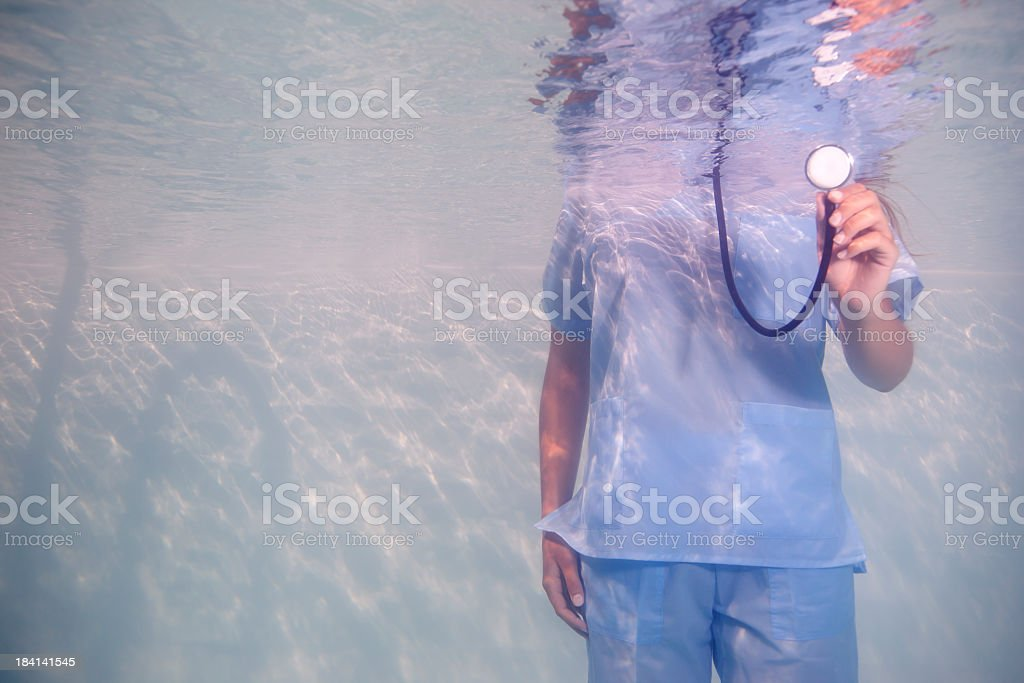 Doctor in water royalty-free stock photo