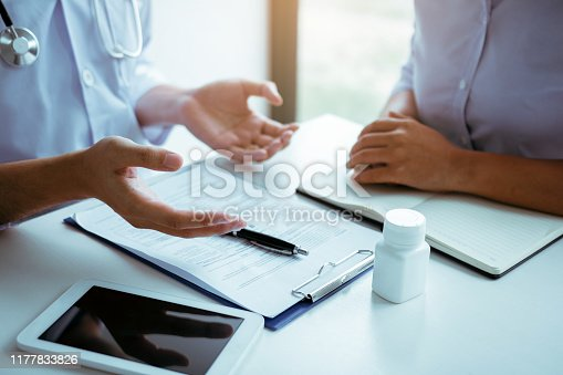 1026367516 istock photo Doctor is explaining the treatment about the possible treatment of patients in the future. 1177833826
