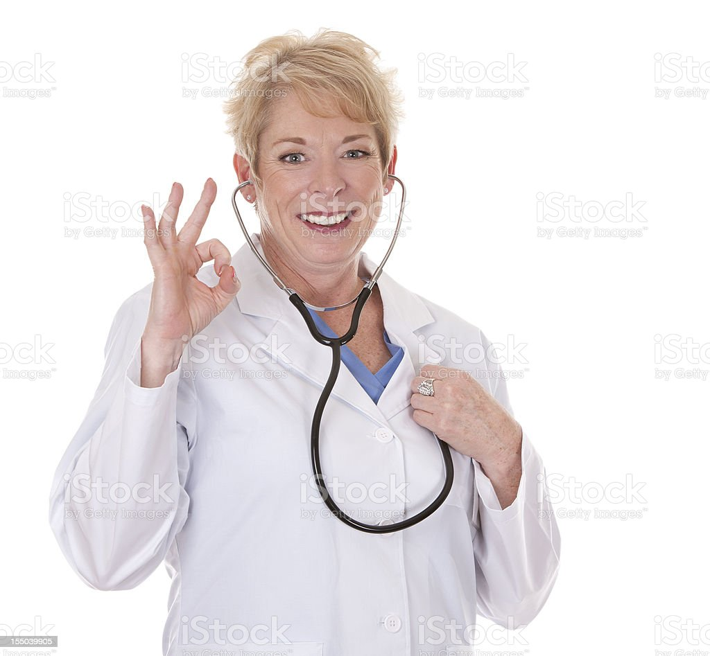 doctor listening royalty-free stock photo