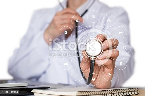 istock Doctor listens to the structure of medical care . 918663314