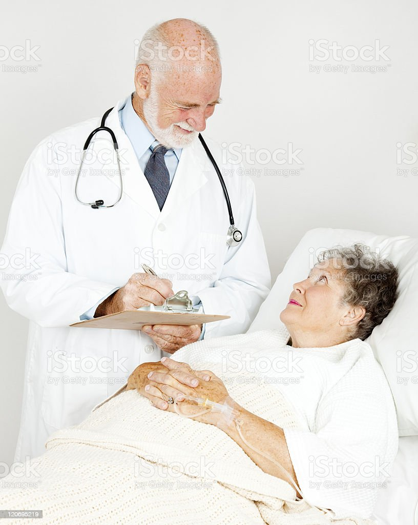 Doctor Makes His Rounds royalty-free stock photo