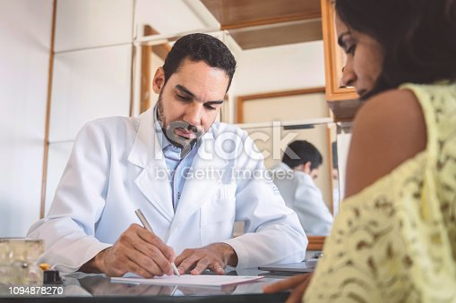 istock doctor makes prescription for female patient 1094878270
