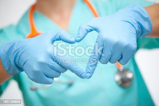 Doctor make heart shape