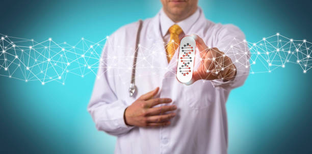 Doctor Offering Drug Personalized By Genome Test stock photo
