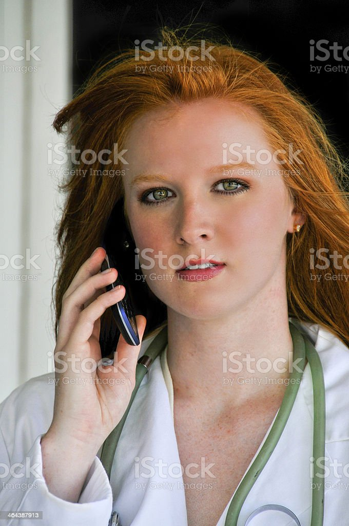 Doctor on the Phone royalty-free stock photo